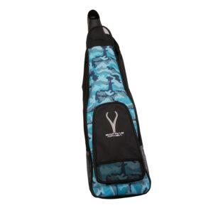 camo blue long fin bag